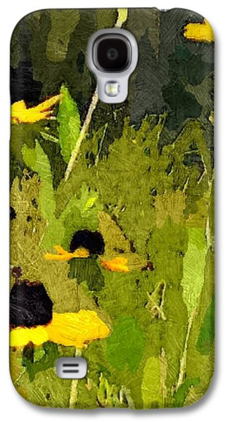 Abstracted Coneflowers Digital Galaxy S4 Cases - Wild Yellow Coneflowers 14 Galaxy S4 Case by Don Berg
