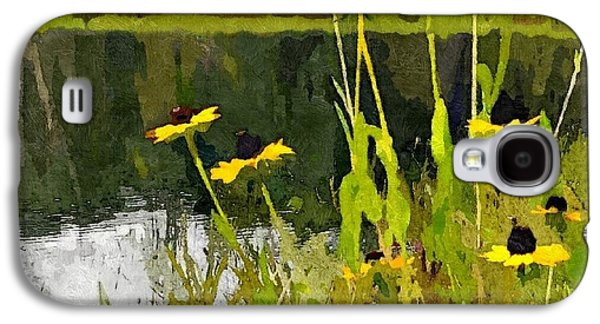 Abstracted Coneflowers Digital Galaxy S4 Cases - Wild Yellow Coneflowers 17 Galaxy S4 Case by Don Berg