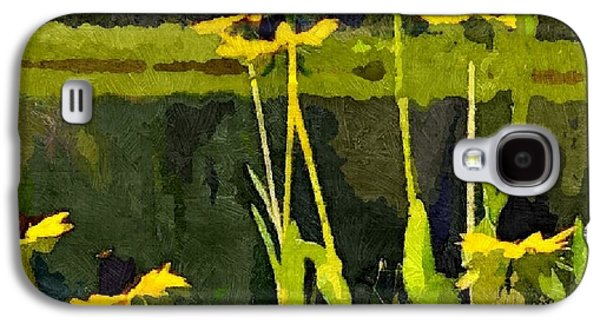 Abstracted Coneflowers Digital Galaxy S4 Cases - Wild Yellow Coneflowers 20 Galaxy S4 Case by Don Berg