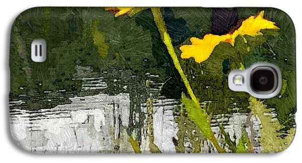 Abstracted Coneflowers Digital Galaxy S4 Cases - Wild Yellow Coneflowers 23 Galaxy S4 Case by Don Berg