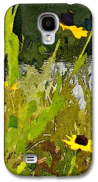 Abstracted Coneflowers Digital Galaxy S4 Cases - Wild Yellow Coneflowers 29 Galaxy S4 Case by Don Berg
