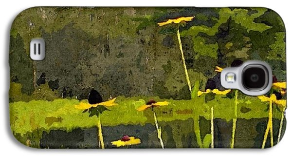 Abstracted Coneflowers Digital Galaxy S4 Cases - Wild Yellow Coneflowers 31 Galaxy S4 Case by Don Berg