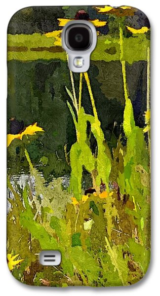 Abstracted Coneflowers Digital Galaxy S4 Cases - Wild Yellow Coneflowers 5 Galaxy S4 Case by Don Berg