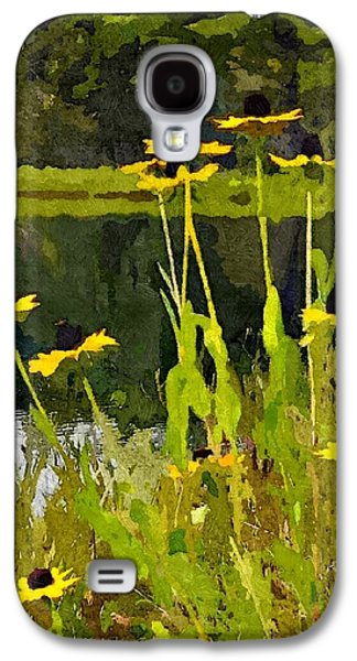 Abstracted Coneflowers Digital Galaxy S4 Cases - Wild Yellow Coneflowers 7 Galaxy S4 Case by Don Berg