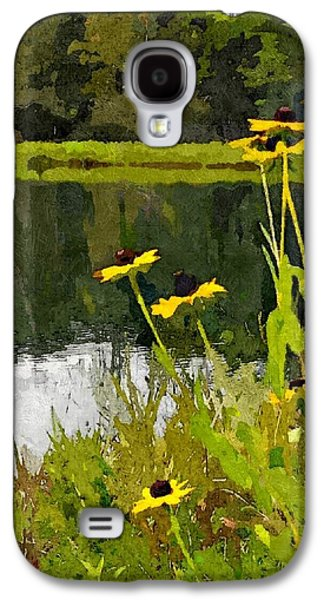 Abstracted Coneflowers Digital Galaxy S4 Cases - Wild Yellow Coneflowers 8 Galaxy S4 Case by Don Berg