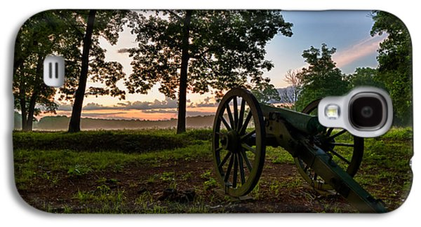 Landscape Acrylic Prints Galaxy S4 Cases - Wilderness Battlefield Cannon Galaxy S4 Case by Lori Coleman