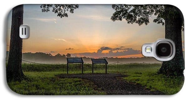 Landscape Acrylic Prints Galaxy S4 Cases - Wilderness Battlefield Sunrise Galaxy S4 Case by Lori Coleman
