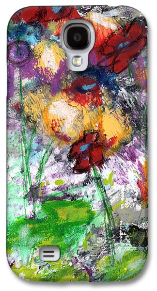 Abstract Landscape Galaxy S4 Cases - Wildest Flowers- Art by Linda Woods Galaxy S4 Case by Linda Woods