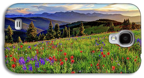 Fort Collins Galaxy S4 Cases - Wildflower Sunset Hill Galaxy S4 Case by Scott Mahon