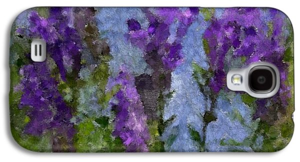 Landscape Acrylic Prints Pastels Galaxy S4 Cases - Wildflowers Galaxy S4 Case by Gina Seymour