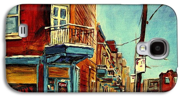 Luncheonettes Paintings Galaxy S4 Cases - Wilenskys Corner Fairmount And Clark Galaxy S4 Case by Carole Spandau