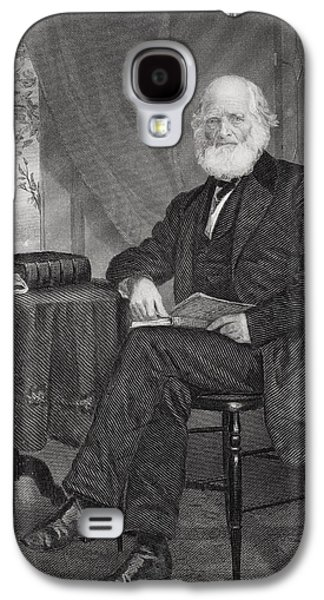 Bryant Drawings Galaxy S4 Cases - William Cullen Bryant 1794 1878 Galaxy S4 Case by Ken Welsh