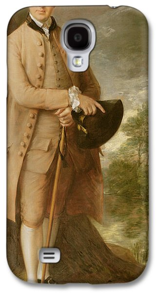 Costumed Figures In Landscape Paintings Galaxy S4 Cases - William Johnstone Pulteney Galaxy S4 Case by Thomas Gainsborough