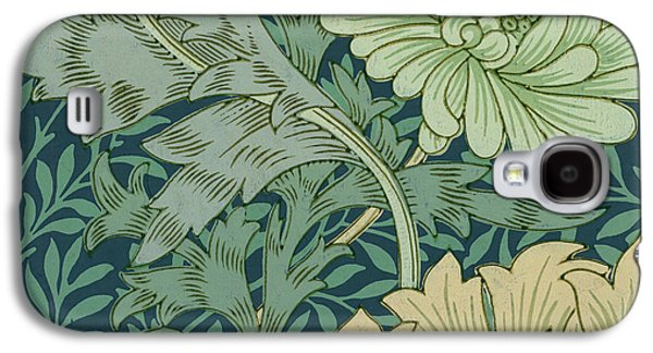 Sample Galaxy S4 Cases - William Morris Wallpaper Sample with Chrysanthemum Galaxy S4 Case by William Morris