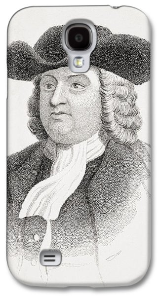 Quaker Drawings Galaxy S4 Cases - William Penn 1644-1718 English Quaker Galaxy S4 Case by Ken Welsh