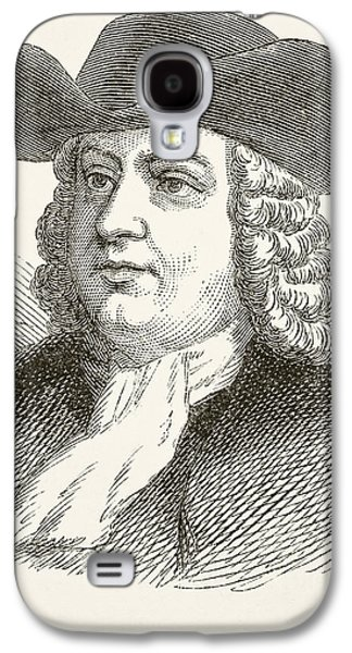 Quaker Drawings Galaxy S4 Cases - William Penn 1644 To 1718, English Galaxy S4 Case by Ken Welsh