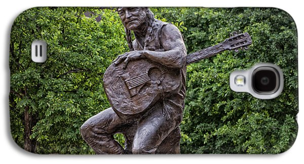 Cities Sculptures Galaxy S4 Cases - Willie Nelson Sculpture - Austin Texas Galaxy S4 Case by Mountain Dreams