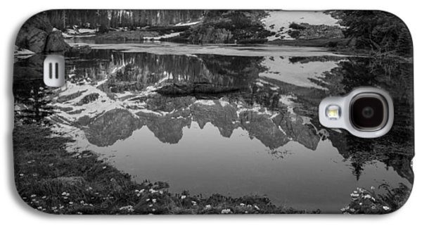 Willow Lake Black And White Galaxy S4 Case by Aaron Spong