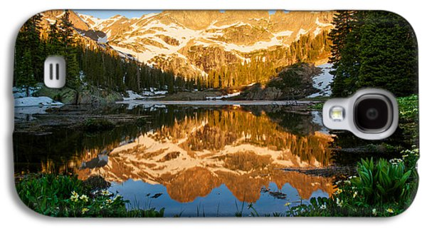 Willow Lake Sunrise Galaxy S4 Case by Aaron Spong