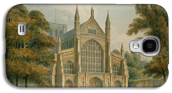 Religious Galaxy S4 Cases - Winchester Cathedral Galaxy S4 Case by John Buckler