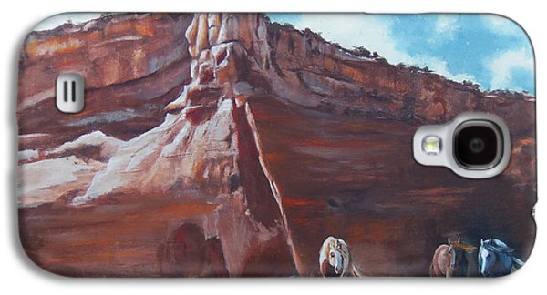 Chatham Paintings Galaxy S4 Cases - Wind Horse Canyon Galaxy S4 Case by Karen Kennedy Chatham