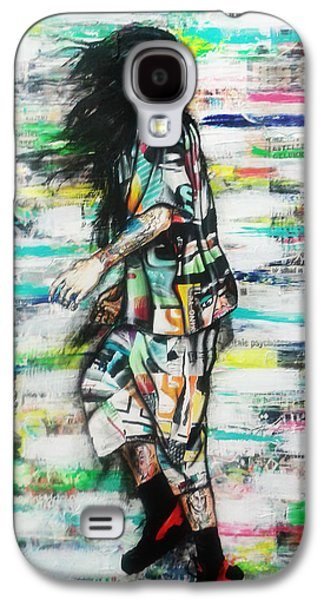 Sneakers Mixed Media Galaxy S4 Cases - Wind Man Galaxy S4 Case by Maudy Alferink
