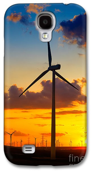 Generators Galaxy S4 Cases - Wind turbines Galaxy S4 Case by Gabriela Insuratelu
