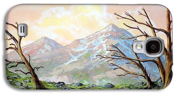 Windblown Paintings Galaxy S4 Cases - Windblown Galaxy S4 Case by Frank Wilson