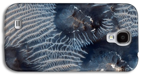Windblown Paintings Galaxy S4 Cases - Windblown Sediments. Noctis Labyrinthus. Mars Galaxy S4 Case by Celestial Images