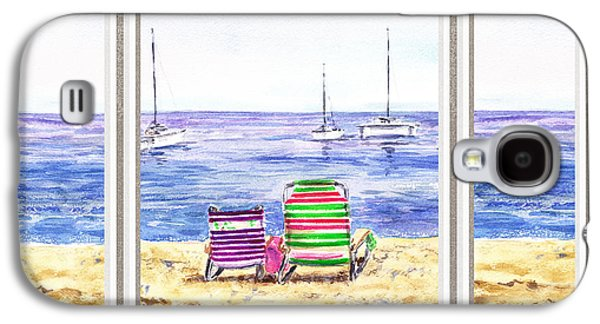 Window Of The Beach House Galaxy S4 Case by Irina Sztukowski