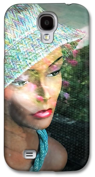 African-american Galaxy S4 Cases - Window Reflection Store Mannequin Pink Teal Galaxy S4 Case by Melissa Bittinger