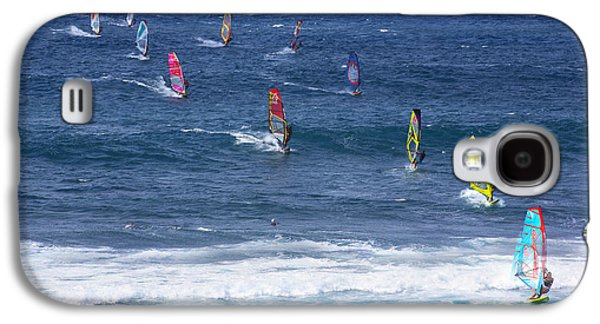 Wind Photographs Galaxy S4 Cases - Windsurfing in Maui Hawaii Galaxy S4 Case by Diane Diederich