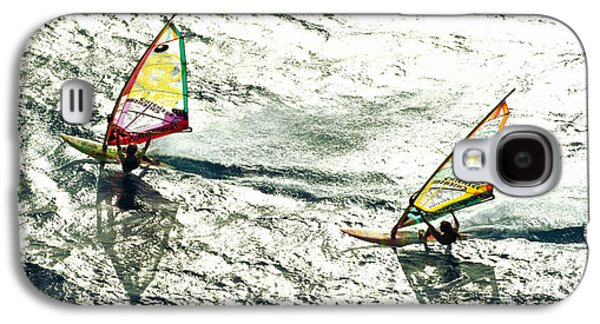 Person Galaxy S4 Cases - Windsurfing Silver Waters Galaxy S4 Case by Erik Aeder - Printscapes
