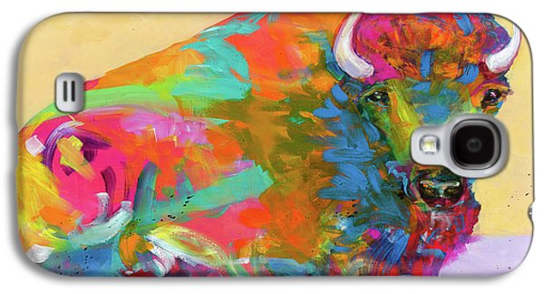 Bison Paintings Galaxy S4 Cases - Windswept Galaxy S4 Case by Tracy Miller