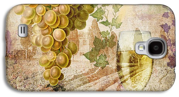 Champagne Paintings Galaxy S4 Cases - Wine Country Chablis Galaxy S4 Case by Mindy Sommers