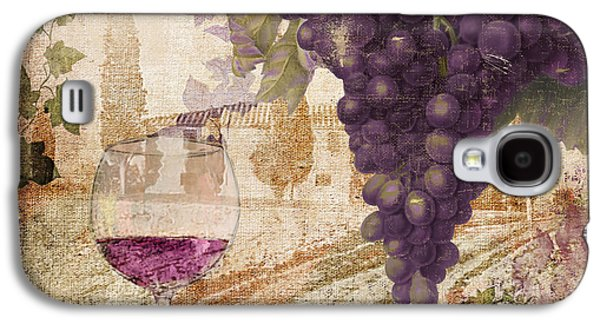 Champagne Paintings Galaxy S4 Cases - Wine Country Loire Galaxy S4 Case by Mindy Sommers