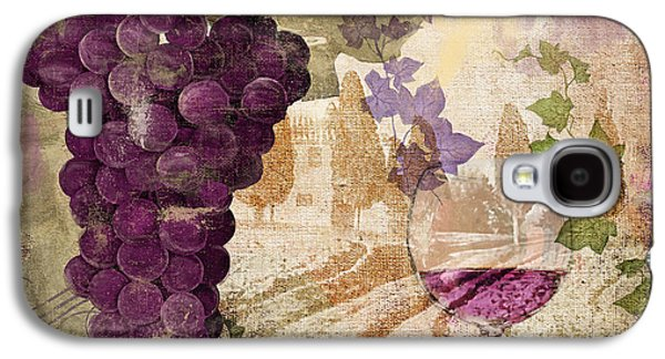 Champagne Paintings Galaxy S4 Cases - Wine Country Medoc Galaxy S4 Case by Mindy Sommers