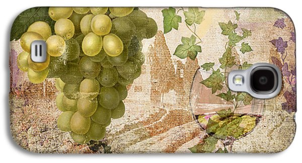 Champagne Paintings Galaxy S4 Cases - Wine Country Rhone Galaxy S4 Case by Mindy Sommers