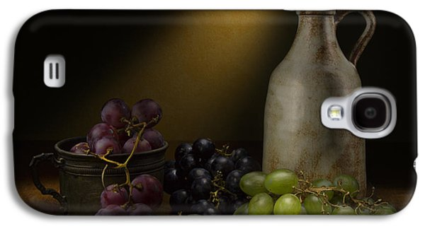 Grapes Art Deco Galaxy S4 Cases - Wine Galaxy S4 Case by Enzo Caraballo