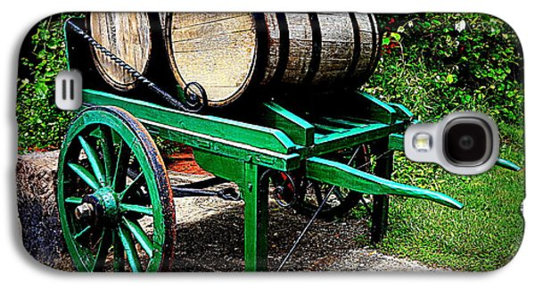 Wine Pull Cart Galaxy S4 Case by Georgia Doyle  brushhandle