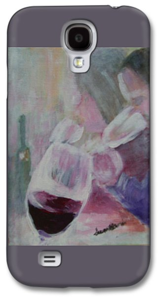 Women Tasting Wine Galaxy S4 Cases - Wine Sipping Galaxy S4 Case by Susan Harris