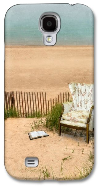 Fanciful Galaxy S4 Cases - Wingback Chair at the Beach Galaxy S4 Case by Jill Battaglia