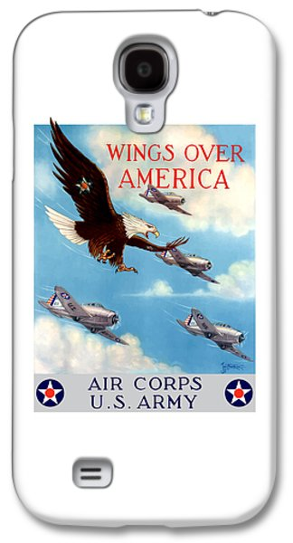 Military Mixed Media Galaxy S4 Cases - Wings Over America - Air Corps U.S. Army Galaxy S4 Case by War Is Hell Store
