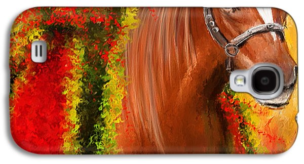 Horse Racing Galaxy S4 Cases - Winner Is - Derby Champion Galaxy S4 Case by Lourry Legarde