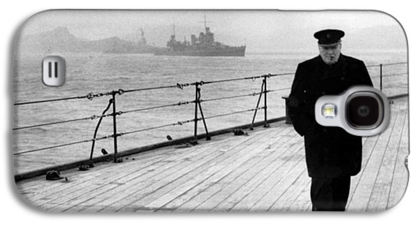 Winston Churchill At Sea Galaxy S4 Case by War Is Hell Store