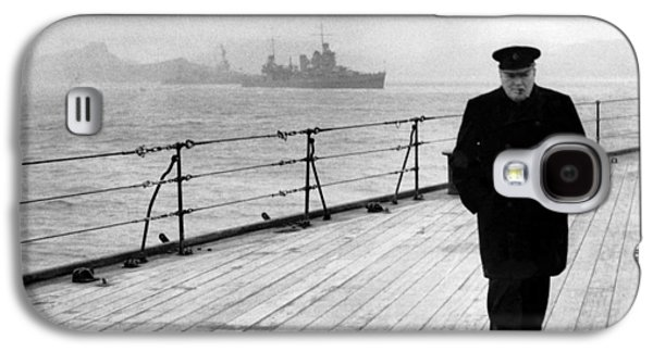 Historic Ship Galaxy S4 Cases - Winston Churchill At Sea Galaxy S4 Case by War Is Hell Store