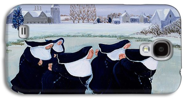 Snow Paintings Galaxy S4 Cases - Winter at the Convent Galaxy S4 Case by Margaret Loxton