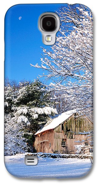 Connecticut Landscape Galaxy S4 Cases - Winter Barn Scene-Warren Ct Galaxy S4 Case by Thomas Schoeller