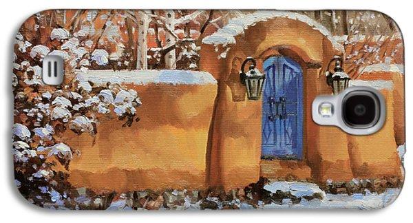 Rooftop Galaxy S4 Cases - Winter Beauty of Santa Fe Galaxy S4 Case by Gary Kim