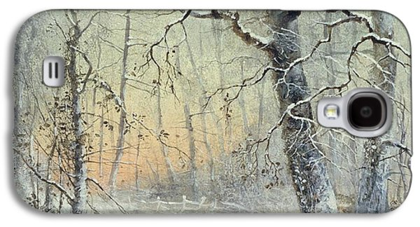 Country Paintings Galaxy S4 Cases - Winter Breakfast Galaxy S4 Case by Joseph Farquharson